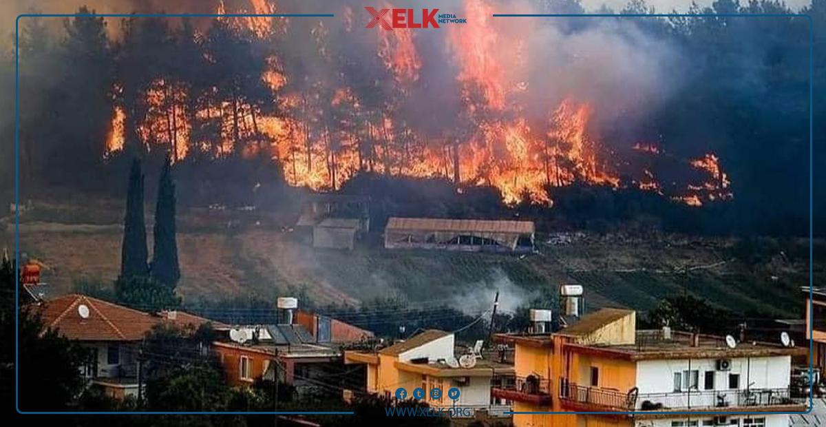 توركیا؛ ئاگری دارستانەكانی ئەو وڵاتە كۆنتڕۆڵ نەكراوە